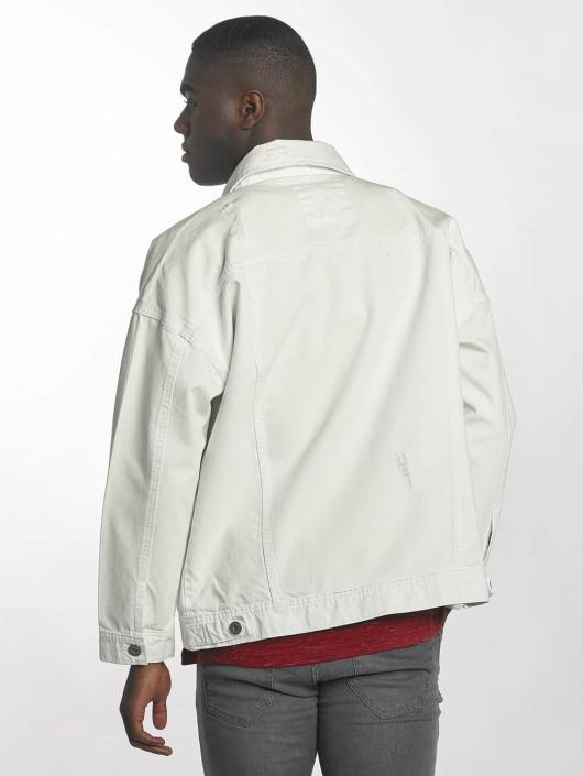 Urban Classics Giacca Jeans Ripped Denim bianco