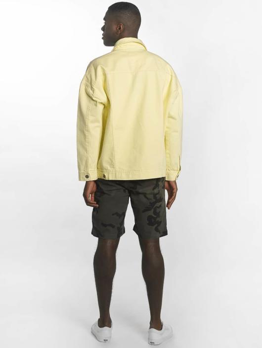 Urban Classics Giacca Mezza Stagione Garment Dye Oversize giallo
