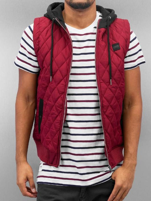 Urban Classics Gilet Diamond Quilted rosso