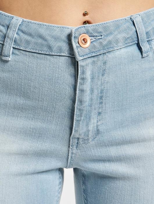 Urban Classics Høy midje Jeans Ladies High Waist blå