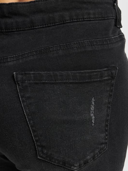 Urban Classics Høy midje Jeans Ladies High Waist svart