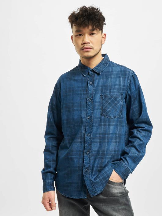 Urban Classics Hemd Printed blau