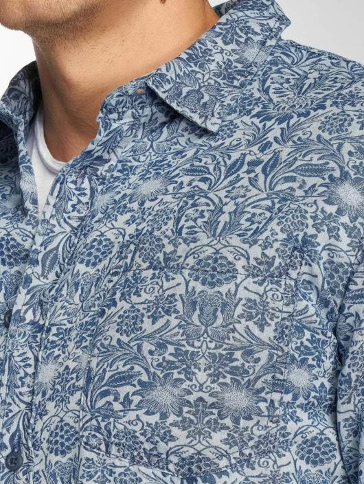Urban Classics Hemd Printed Flower Denim blau