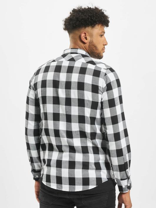Urban Classics Hemd Checked Flanell weiß