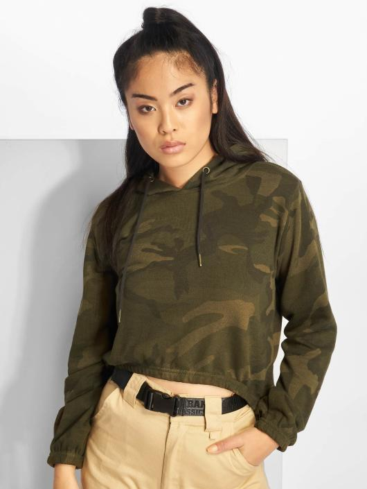 Urban Classics Hoodie Camo Cropped camouflage
