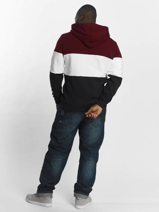 Urban Classics Hoodie 3 Tone red