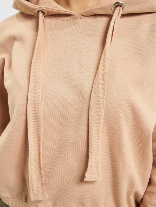 Urban Classics Hoody Interlock Short rosa