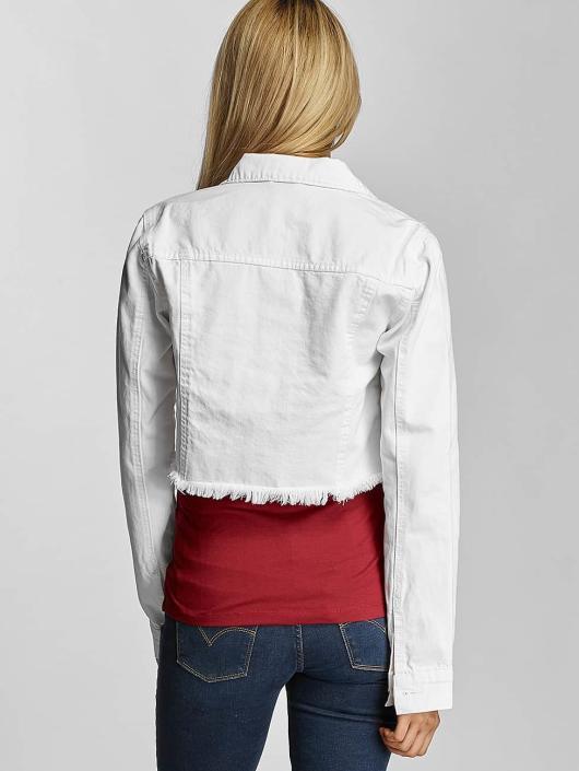 Urban Classics Jean Jakker Ladies Short Denim hvit
