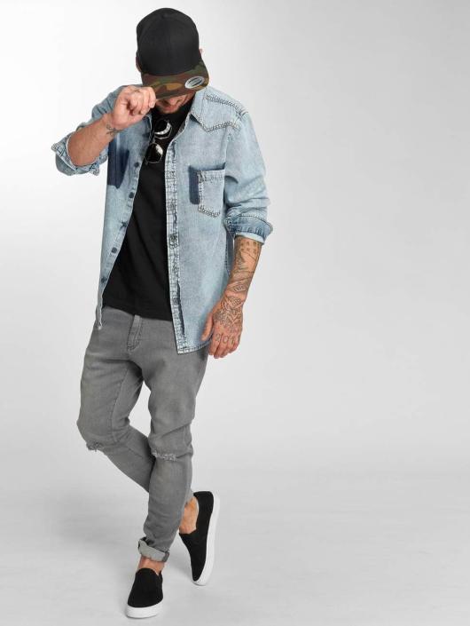 Urban Classics Jean slim Knee Cut gris