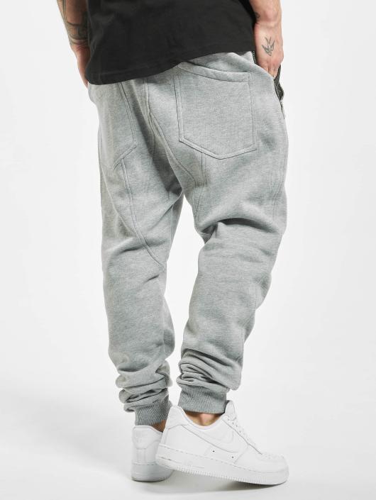 Urban Classics Joggebukser Side Zip Leather Pocket grå