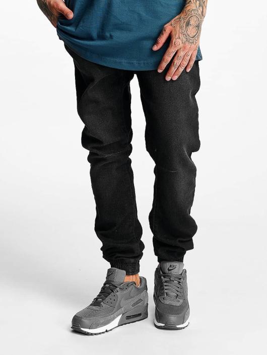 Urban Classics Jogging kalhoty Knitted Denim čern