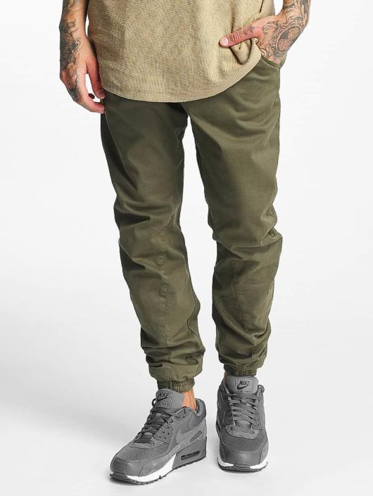 Urban Classics Jogging kalhoty Stretch olivový
