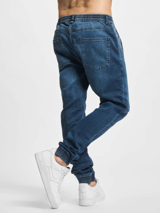 Urban Classics joggingbroek Knitted Denim blauw