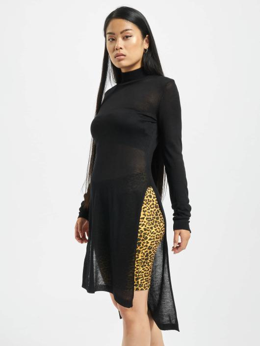 Urban Classics Jumper Urban Classics Ladies Fine Knit Turtleneck Long Shirt black
