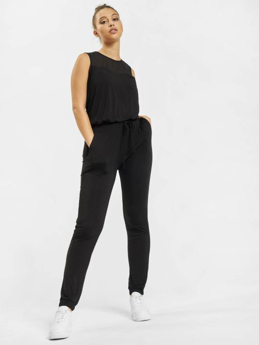 Urban Classics Jumpsuit Tech Mesh Long schwarz