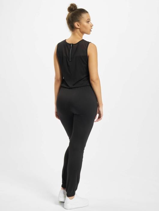 Urban Classics jumpsuit Tech Mesh Long zwart