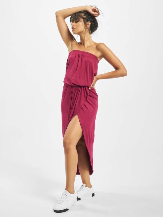 schoeisel beste plaats schoenen voor goedkoop Urban Classics Ladies Viscose Bandeau Dress Burgundy