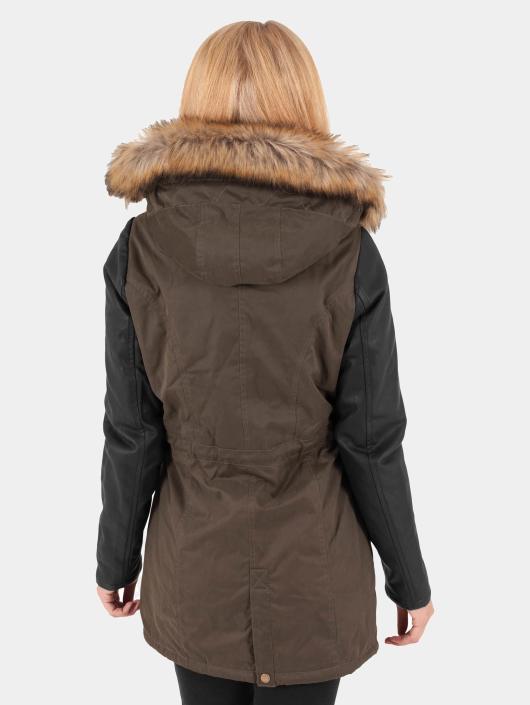 Urban Classics Kåper Leather Imitation oliven