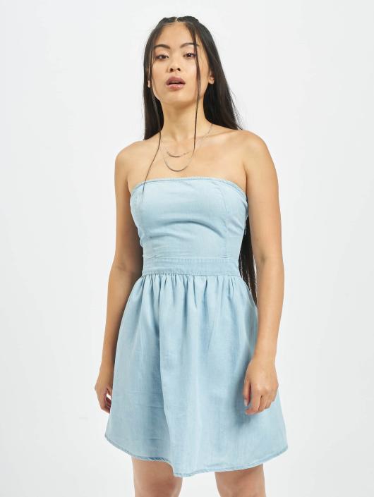 Urban Classics Kleid Bandeau blau