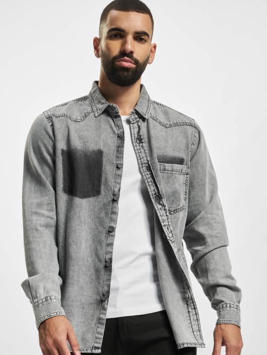 Urban Classics Koszule Denim Pocket szary