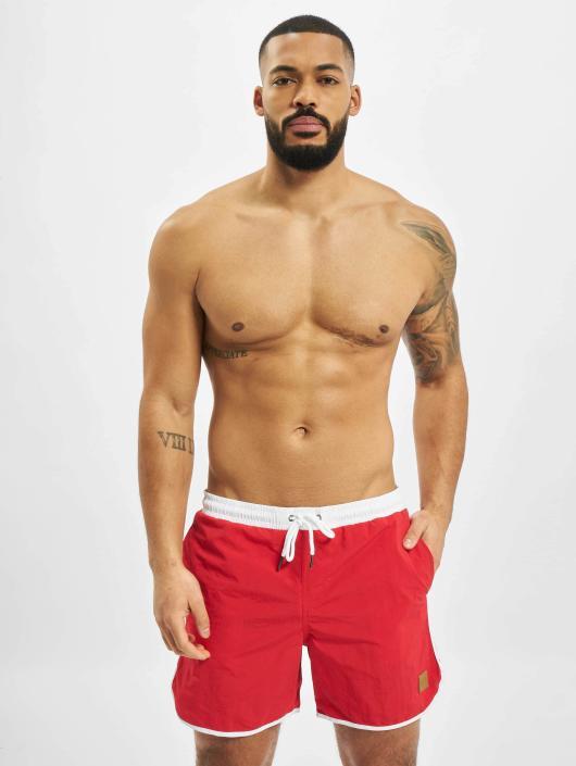 Urban Classics Koupací šortky Retro červený