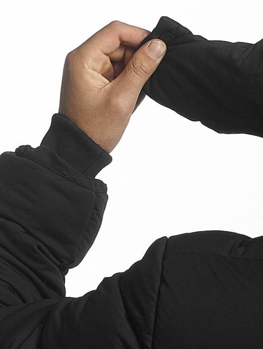 Urban Classics Kurtki pikowane Hooded Boxy Puffer czarny