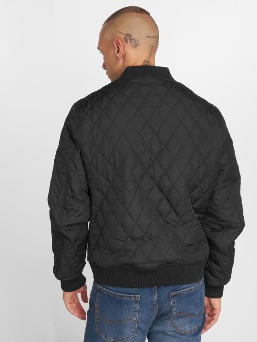 Urban Classics Kurtki przejściowe Diamond Quilt Nylon czarny