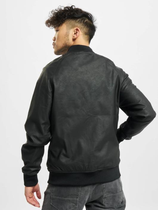 Urban Classics Lærjakke Imitation Leather Raglan svart