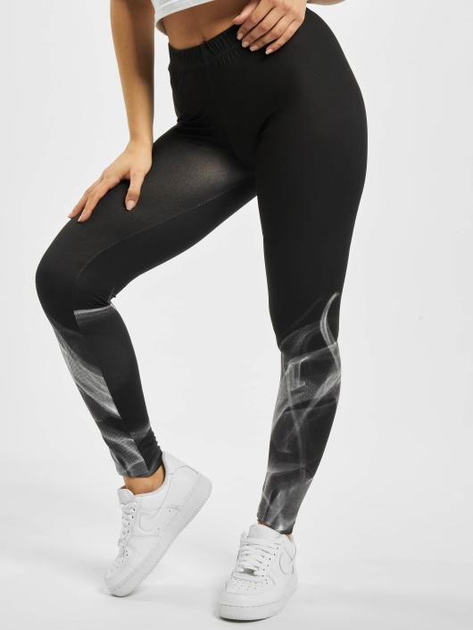 4f426c0a5c5 Urban Classics broek / Legging Ladies Smoke in zwart 293905