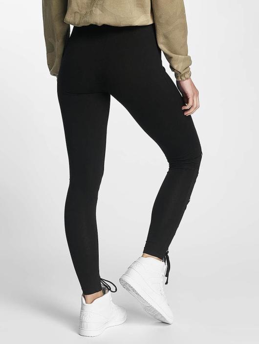 Urban Classics Leggings/Treggings Laced Up Front czarny