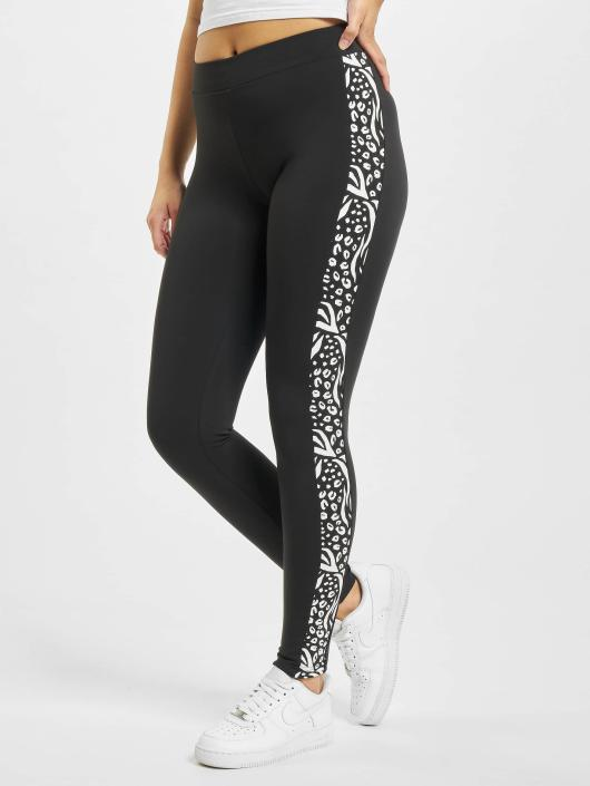 Urban Classics Leggings/Treggings Side Stripe Zoo czarny