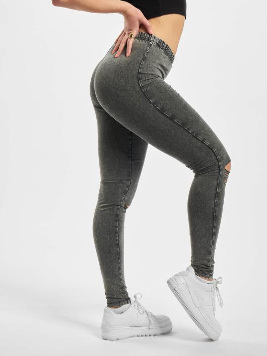 Urban Classics Leggings/Treggings Cutted Knee grå