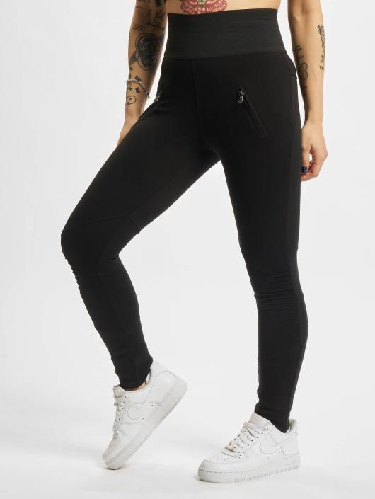 Urban Classics Leggings/Treggings Interlock High Waist svart