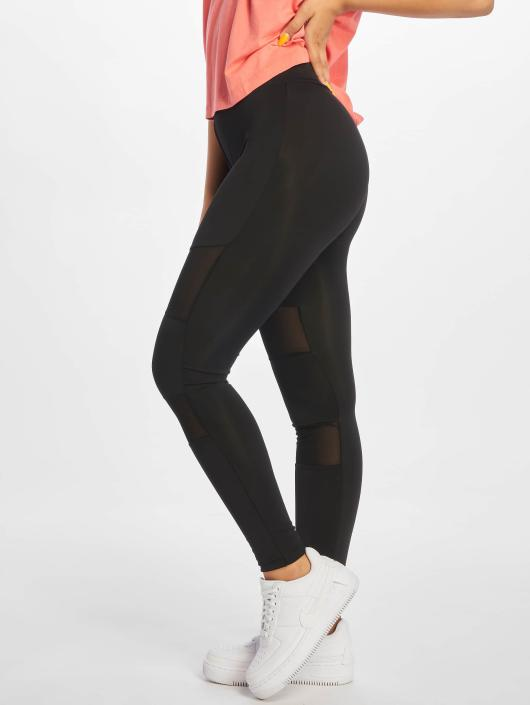 Urban Classics Leggings/Treggings Ladies Tech Mesh svart