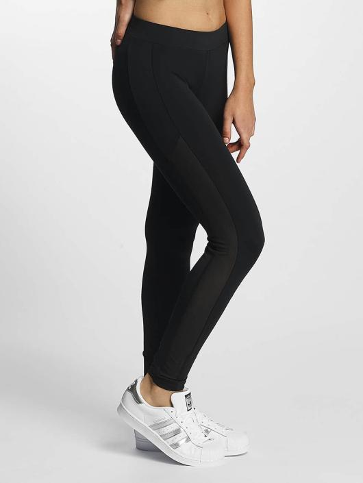 Urban Classics Leggings/Treggings Tech Mesh Stripe svart