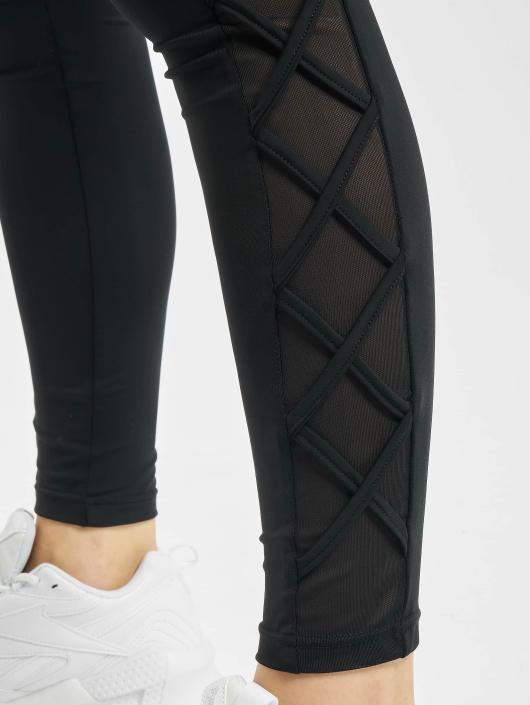 Urban Classics Leggings/Treggings Ribbon Mesh svart