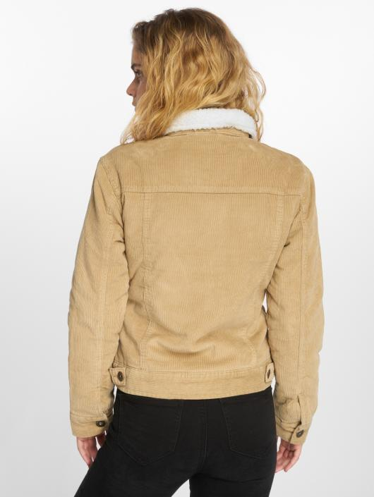 Urban Classics Lightweight Jacket Sherpa Cordury beige
