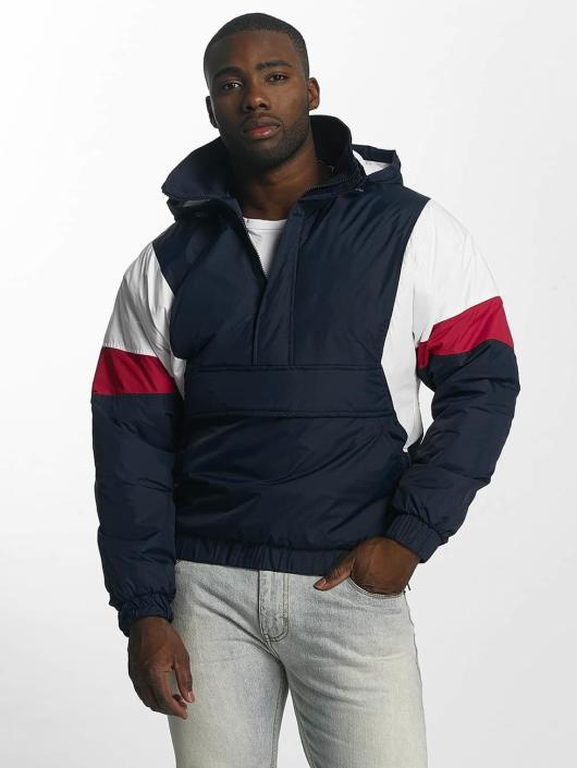 Urban Classics Lightweight Jacket 3 Tone Pull Over blue