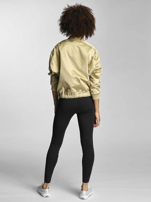 Urban Classics Lightweight Jacket Ladies Satin Kimono gold colored