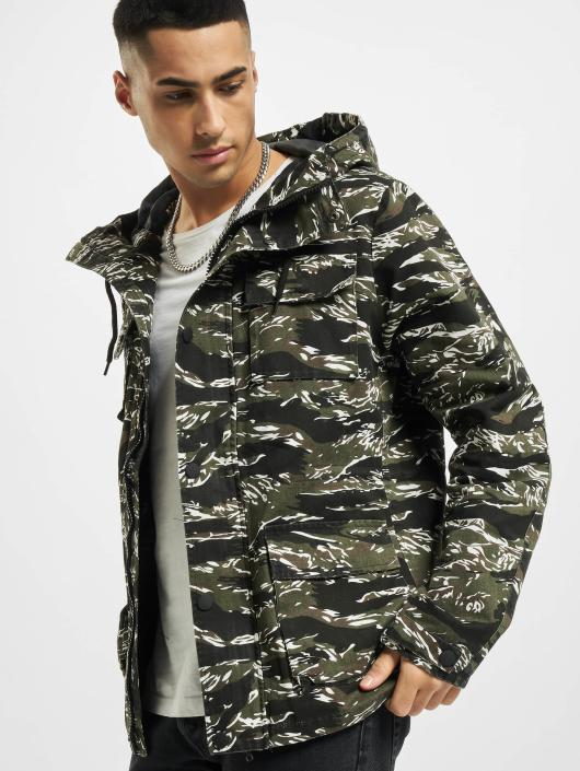 Urban Classics Lightweight Jacket Tiger Camo olive