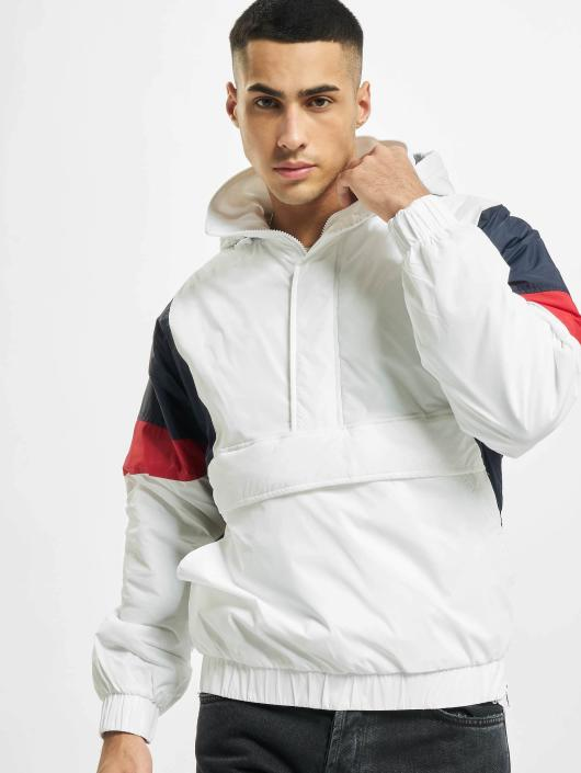 Urban Classics Lightweight Jacket 3 Tone Pull Over white