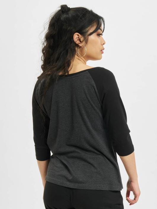 Urban Classics Longsleeve Ladies 3/4 Contrast gray