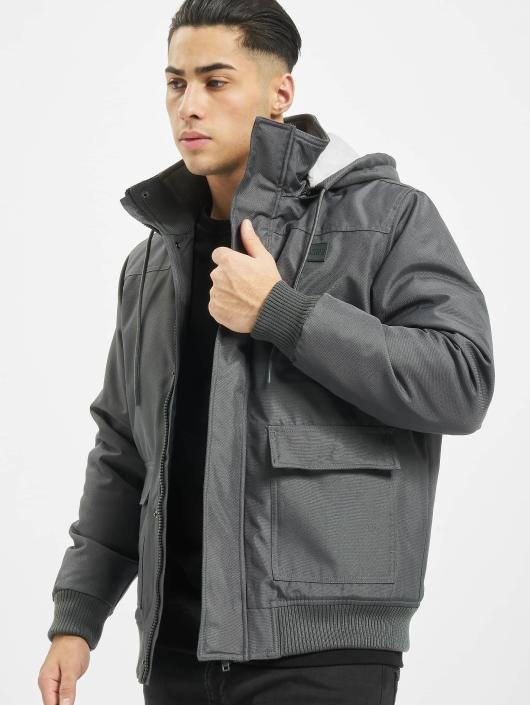 Urban Classics Manteau hiver Heavy Hooded gris