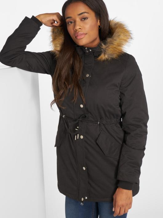 Urban Classics Manteau hiver Ladies Sherpa Lined Peached noir
