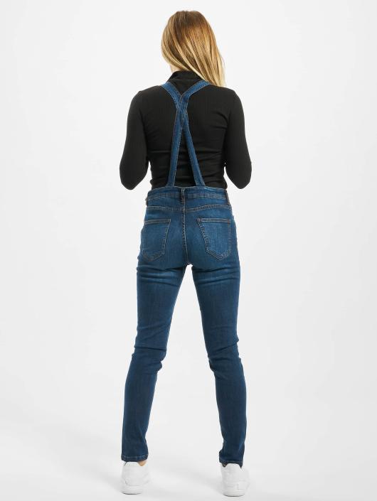 Urban Classics Nohavice na traky Tiana modrá