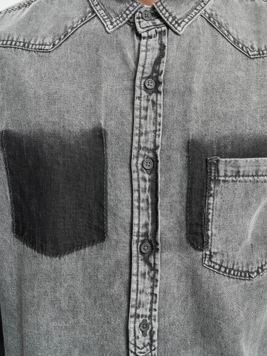 Urban Classics overhemd Denim Pocket grijs
