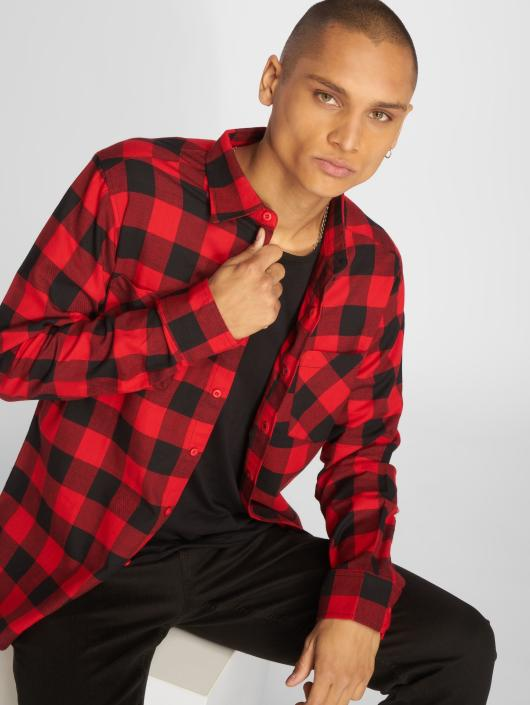 Urban Classics overhemd Checked Flanell rood