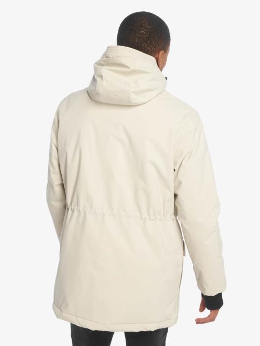 Urban Classics Płaszcze Hooded Heavy Thumbhole bezowy