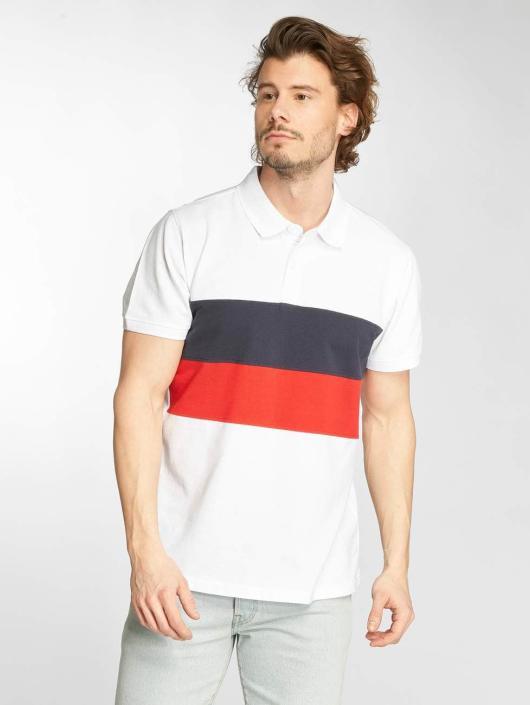 Urban Classics Poloshirt Color Block Panel weiß