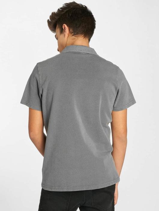 Urban Classics Poloskjorter Garment Dye Pique grå
